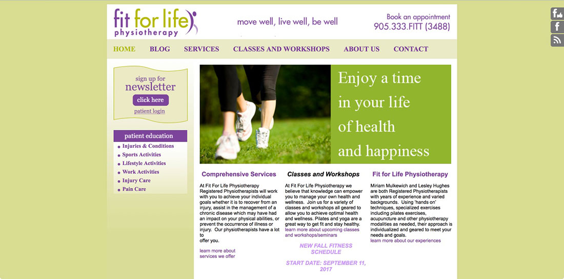 health-website, graphic designer, burlington