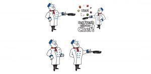 illustration, graphic designer, chef